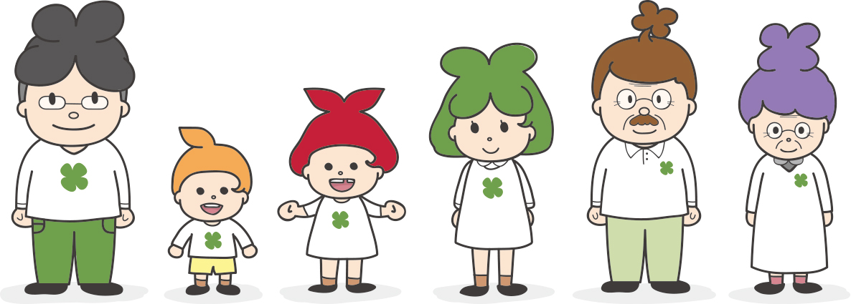 クローバー家族 歯科 キャラクター